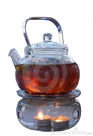 Teapot of herbal tea