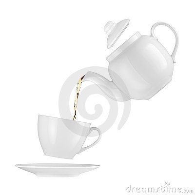 Free Teapot Pouring Tea Into A Cup Stock Image - 18360571