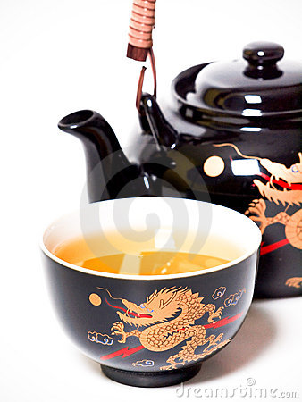 Free Teapot With Cup Of Tea Royalty Free Stock Photos - 11999798