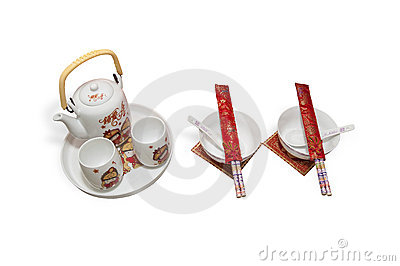 Teapots And Bowls Royalty Free Stock Photos - Image: 20343748