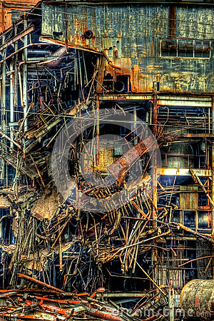 Free Tear Down Of Imperial Sugar Mill Sugar Land Texas Stock Images - 69733534