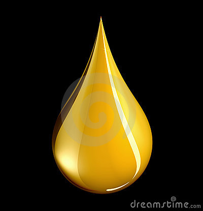 Tear shaped gold drop - with clipping path