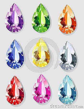 Teardrop cut stones