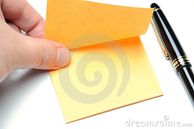 Tearing adhesive note