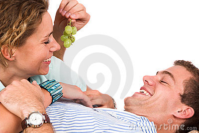 Teasing with grapes