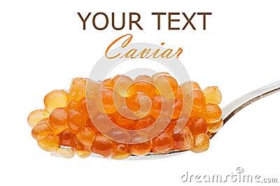 Teaspoon red caviar