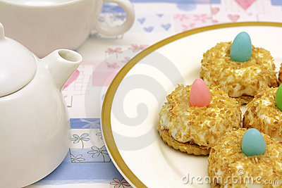 Teatime with coconut cakes