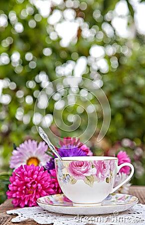 Teatime in garden