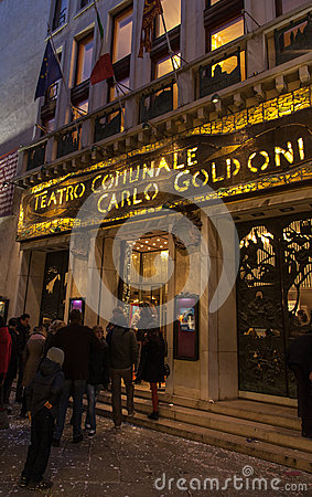 Teatro Comunale Carlo Goldoni Editorial Photography