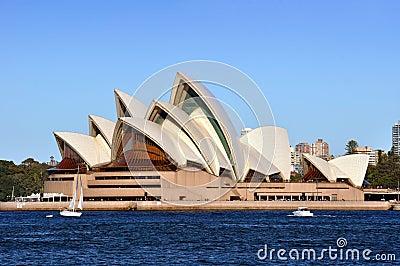 Teatro da ópera de Sydney, Austrália Foto de Stock Editorial