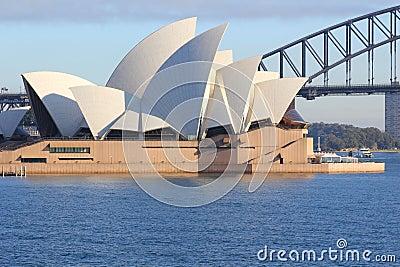Teatro de la ópera en Sydney Imagen de archivo editorial