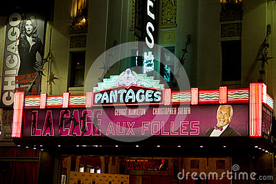 Teatro famoso di Pantages Immagine Editoriale