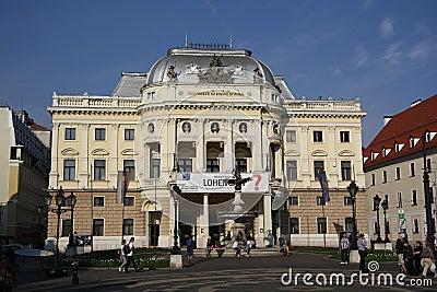 Teatro nacional eslovaco Foto de archivo editorial