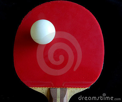 Teble tennis racket bat and ball