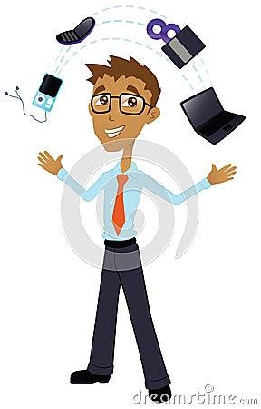 Tech Geek with Electronics