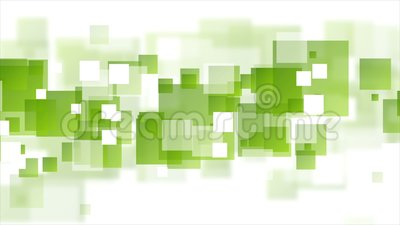 Tech geometric video animation with green squares stock video footage