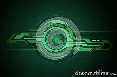 Tech geometry green