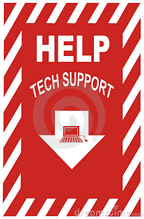 Free Tech Support Sign Royalty Free Stock Photography - 453787