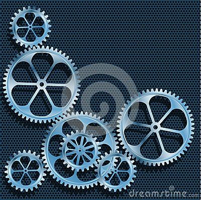 Technical background. Abstract gear.