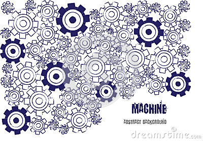 Technical background with cogwheels Vector Illustration