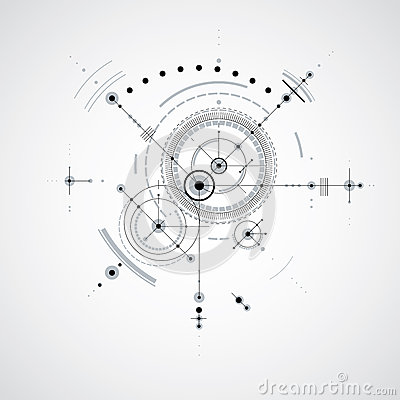 Free Technical Blueprint, Black And White Vector Digital Background W Royalty Free Stock Image - 75426606