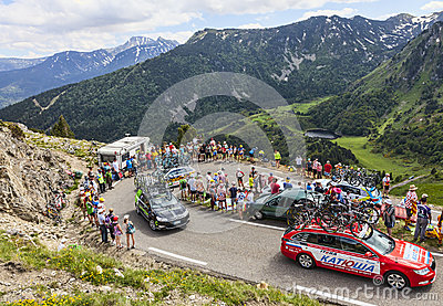 Technical car in Pyrenees Mountains Editorial Photo