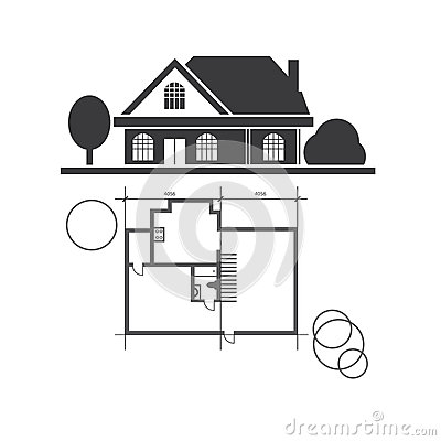 Free Technical Draw House Royalty Free Stock Images - 60286909