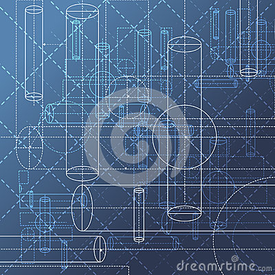 Free Technical Drawing Abstract Background Royalty Free Stock Photography - 46748447
