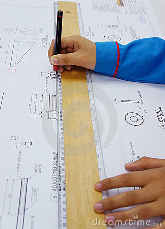 Technical drawing work