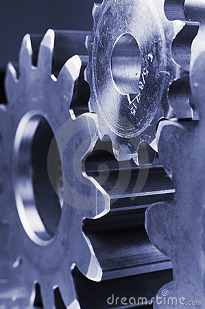 Free Technical Profile Of Gears Royalty Free Stock Photo - 856535