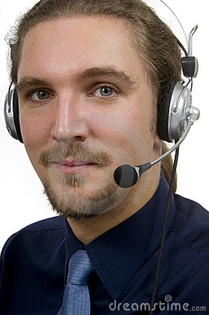 Technical support male service representative