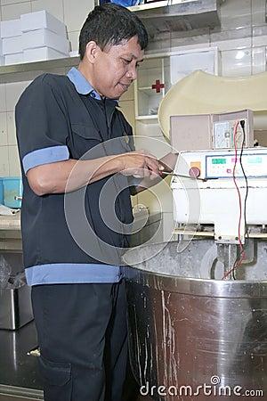 Technician fixing machine