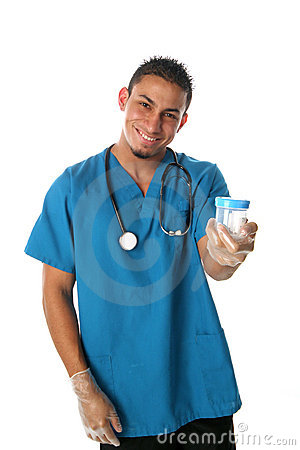 Technician Needs A Specimen Royalty Free Stock Image - Image: 287556