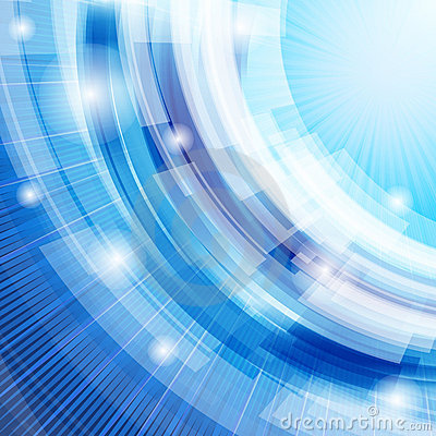 Techno abstract blue background