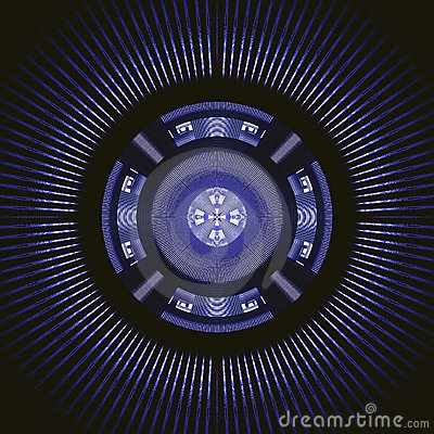Techno blue rotating wheel