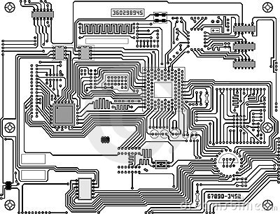 Technological electronic circuit background