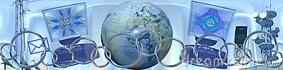 Technologie und weltweite Anschlüsse