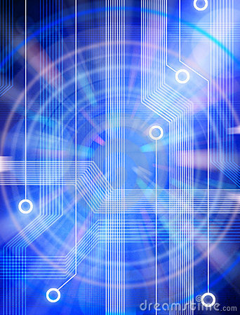 Technology Abstract Blue Background