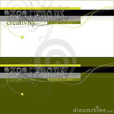 Technology abstract experimental typography
