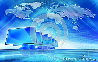 Technology abstract illustratio