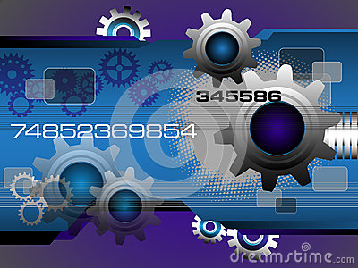 Technology background with gears