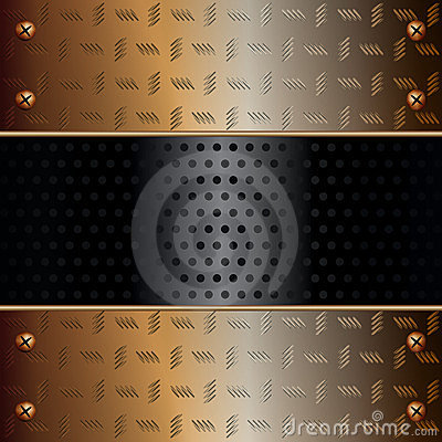 Technology background with metallic components