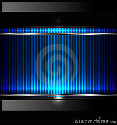 Free Technology Background With Metallic Banner. Vector Royalty Free Stock Photo - 22170185