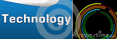 Technology Black Blue Banner