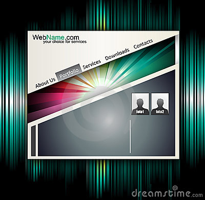 Technology and Business Style Website template