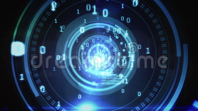Technology code design in human eye. Digital animation of Technology code design in human eye