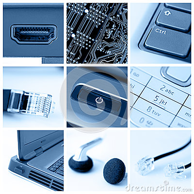 Technology collage