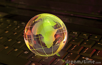 Technology earth globe