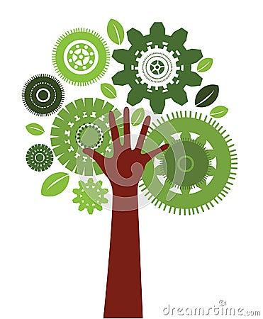 Technology human tree