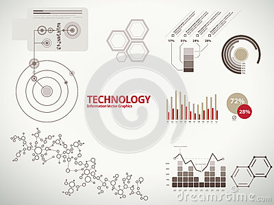 Technology infographics for business with charts